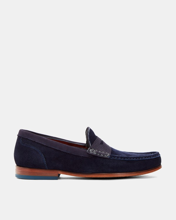 XAPON Suede loafers by Ted Baker — Thread