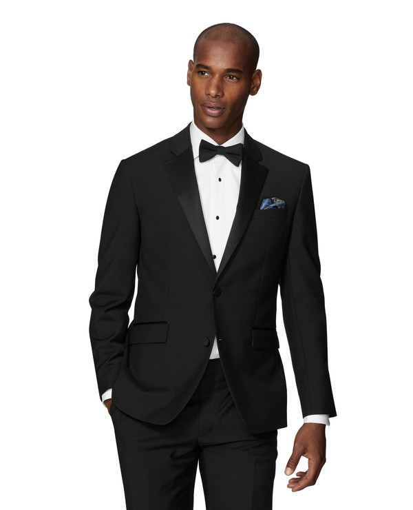 Lancewood Black Slim Fit Dinner Jacket By T M Lewin Thread