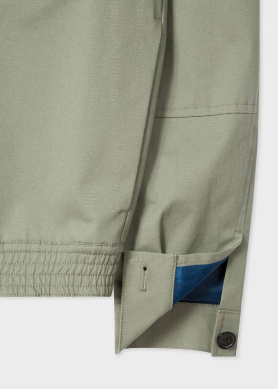 Men's Green Stretch Cotton Twill Patch Pocket Jacket by PS Paul Smith