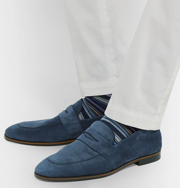 Safari Suede Penny Loafers by Hugo Boss