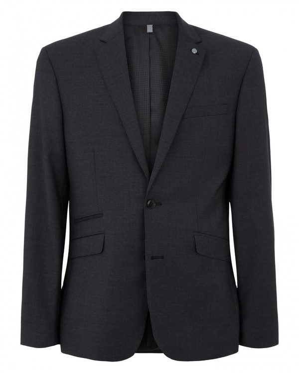 Tailored Plain Weave Charcoal Suit Jacket By Austin Reed Thread Com
