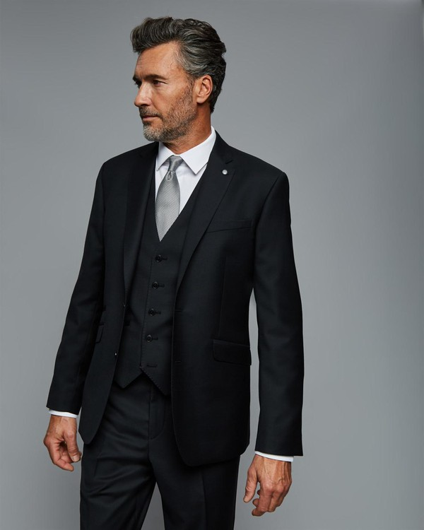 Tailored Plain Weave Black Suit Jacket By Austin Reed Thread Com