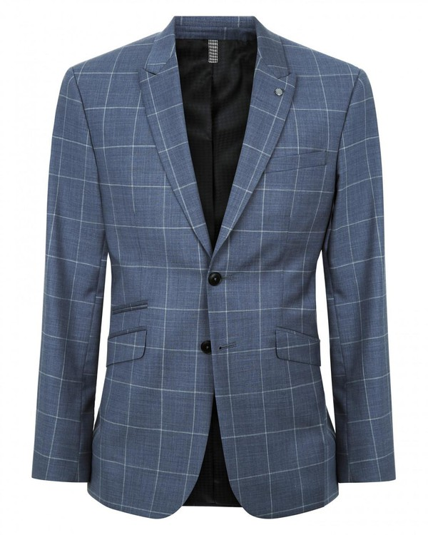Tailored Large Windowpane Suit Jacket By Austin Reed Thread