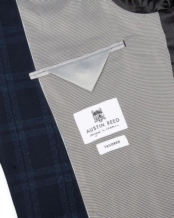 British Tailored Subtle Check Suit Jacket By Austin Reed Thread