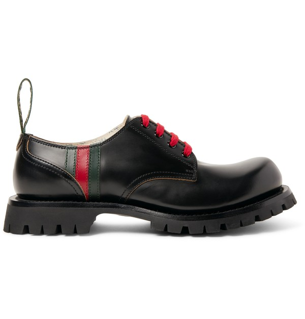 Arley Leather Derby Shoes by Gucci
