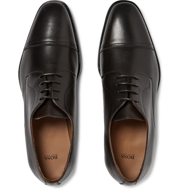 Richmont Cap-Toe Leather Derby Shoes by