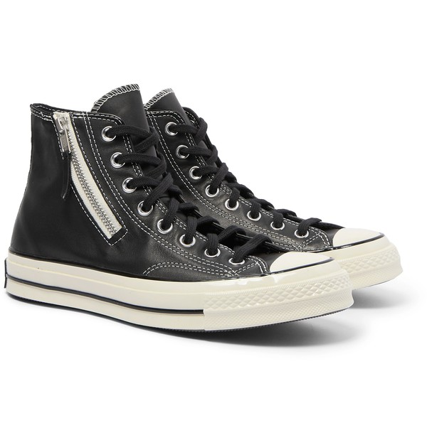 Chuck 70 Leather High-Top Sneakers by