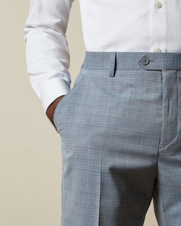Kodat Micro Check Suit Trousers By Ted Baker Thread