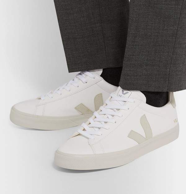 Campo Suede-Trimmed Leather Sneakers by