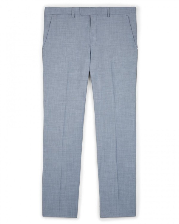 Slim Light Grey Melange Suit Trouser By Austin Reed Thread Com