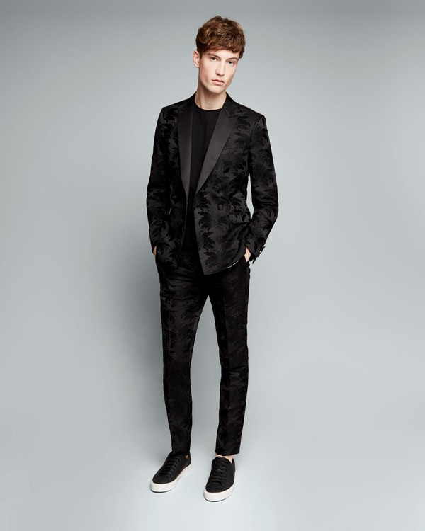 Skinny Floral Jacquard Suit Jacket By Austin Reed Thread Com