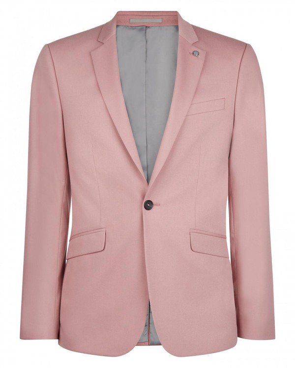 Skinny Pink Suit Jacket By Austin Reed Thread