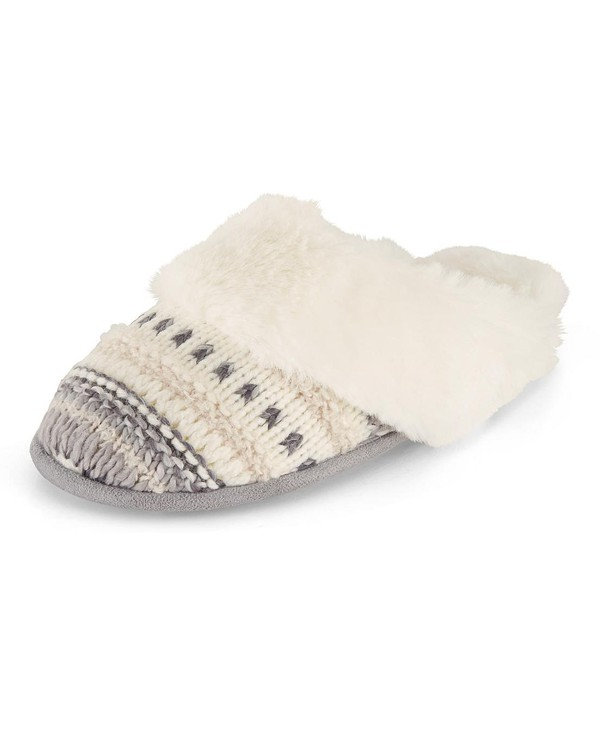 knitted mule slippers