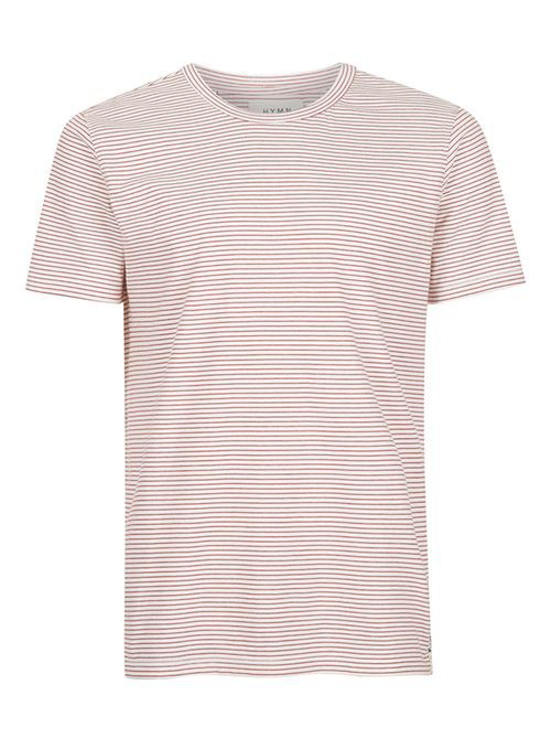 bb9787e8c4 Hymn red and off white stripe t-shirt by ... — Thread