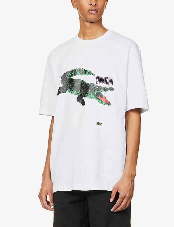 X Chinatown Market Graphic Print Cotton Jersey T Shirt By Lacoste Thread Com
