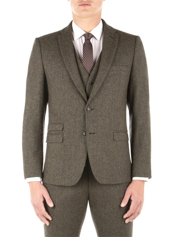 e69cd512129e6f Rifle Green Birtish Tweed Camden Fit Suit... — Thread