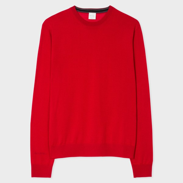 cac760b15b11 Men s Red Merino Wool Sweater by Paul Smith — Thread