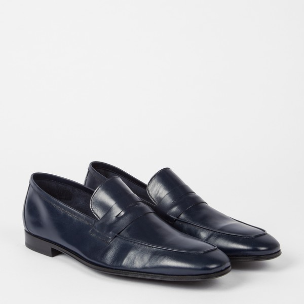 911452698fc Men s Navy Leather  Glynn  Penny Loafers ... — Thread