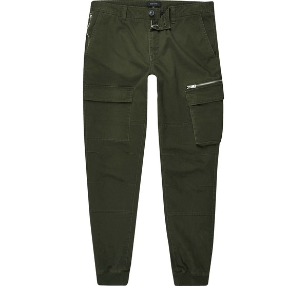 d5b98e2c78a22d Mens Khaki cargo skinny fit trousers by R... — Thread