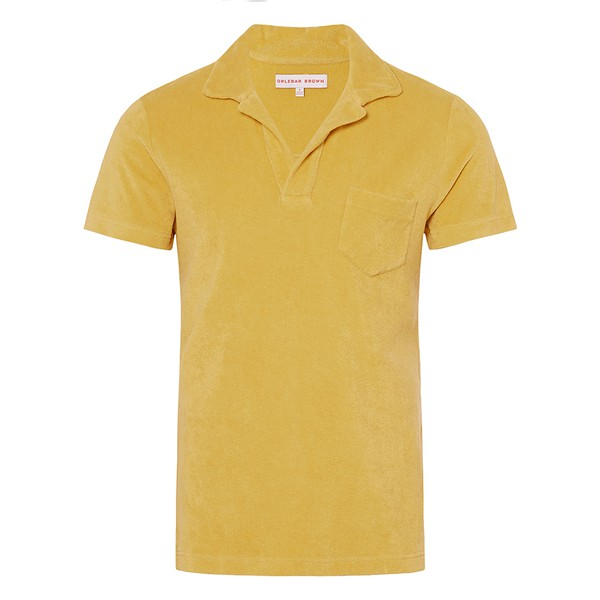 f5125761923c67 TERRY Fawn Towelling Resort Polo by Orleb... — Thread