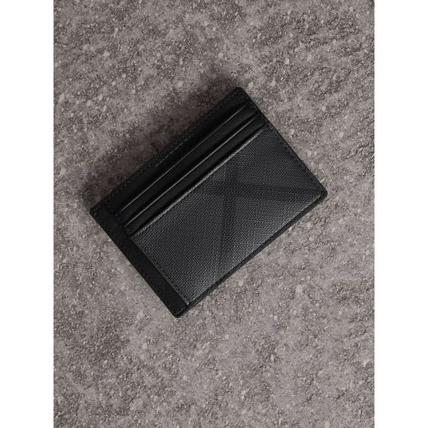 newest abab9 27648 London Check Money Clip Card Case by Burberry