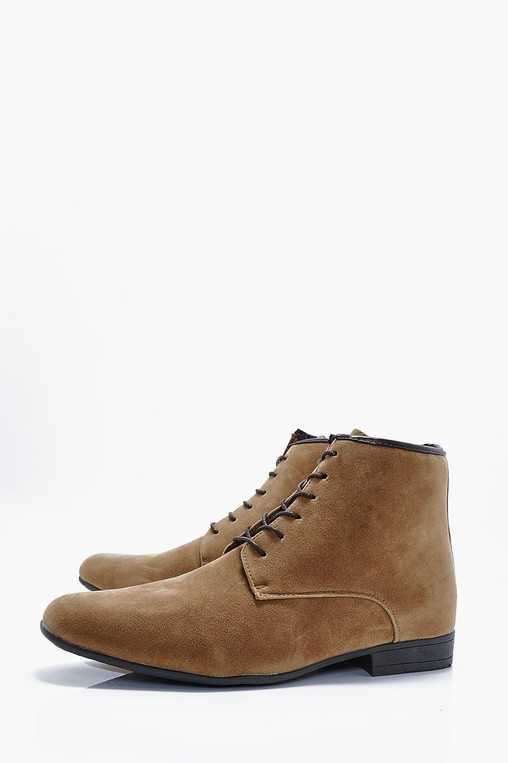 faux suede lace up boots by boohooman \u2014 threadfaux suede lace up boots