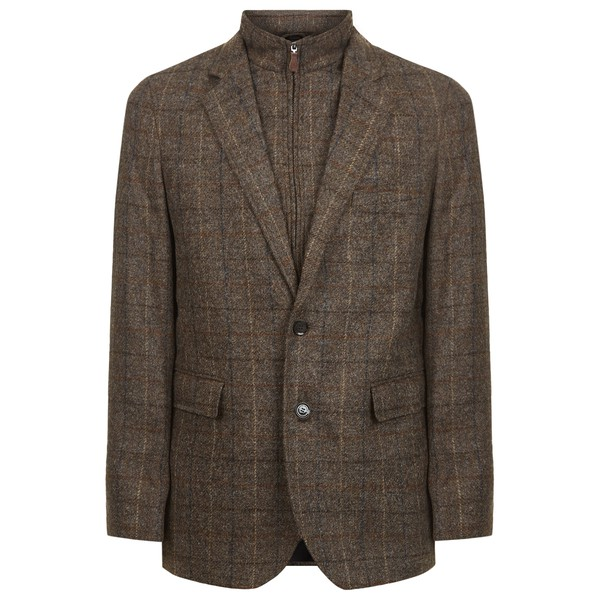 abaad90d596c Holbrook Brown Check - Wool Blazer by Oli... — Thread