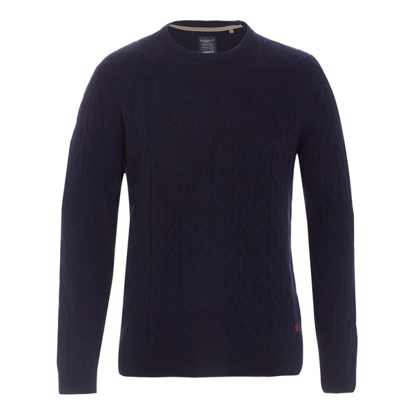 e8177504f18e Navy cable knit jumper by Hammond   Co. b... — Thread