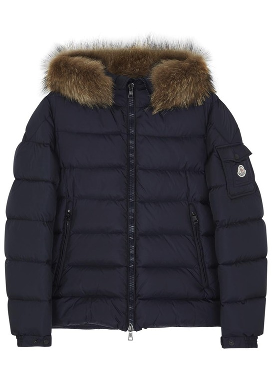 bfefa4a56525 Byron navy fur trimmed jacket by Moncler — Thread