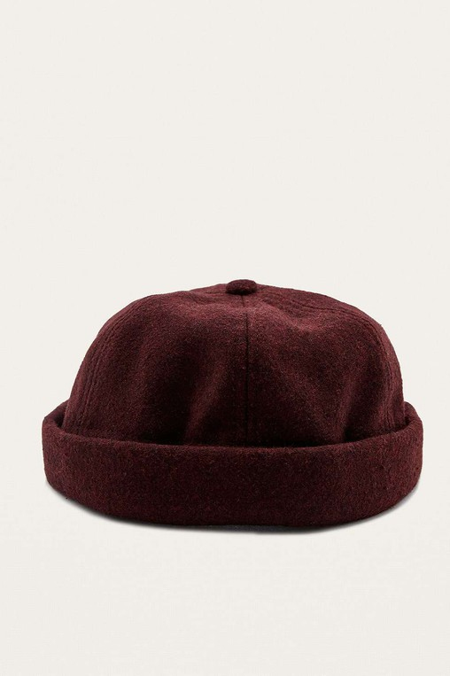 3a28f86c438 UO Burgundy Melton Docker Cap by Urban Ou... — Thread