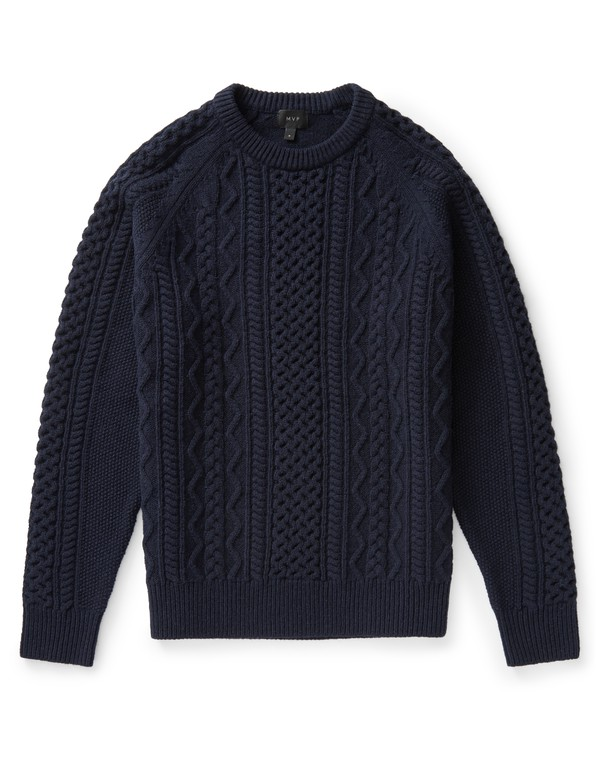 97000ef4ef1 Finnis Lambswool Cable Knit Sweater by MVP