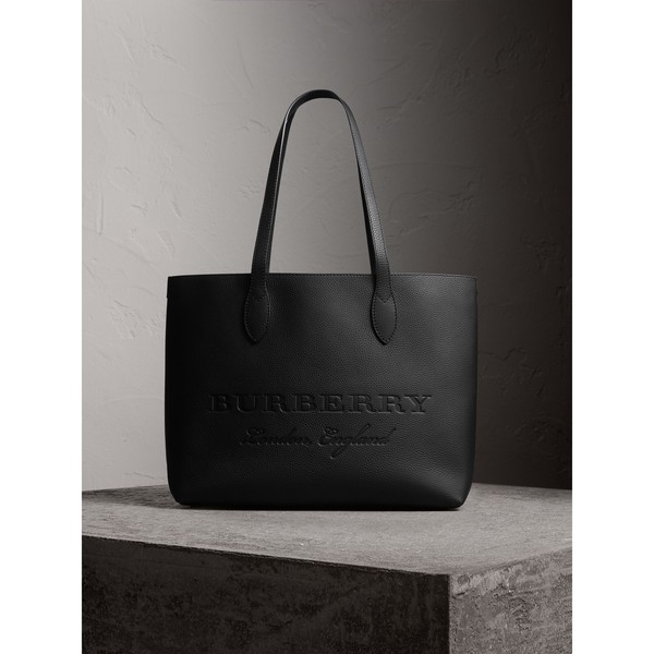 b0fbb81780ad Large Embossed Leather Tote by Burberry — Thread