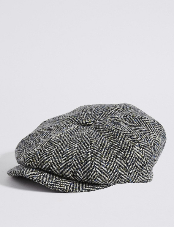 b92ee1148 Pure Wool Baker Boy Hat by Marks & Spencer — Thread