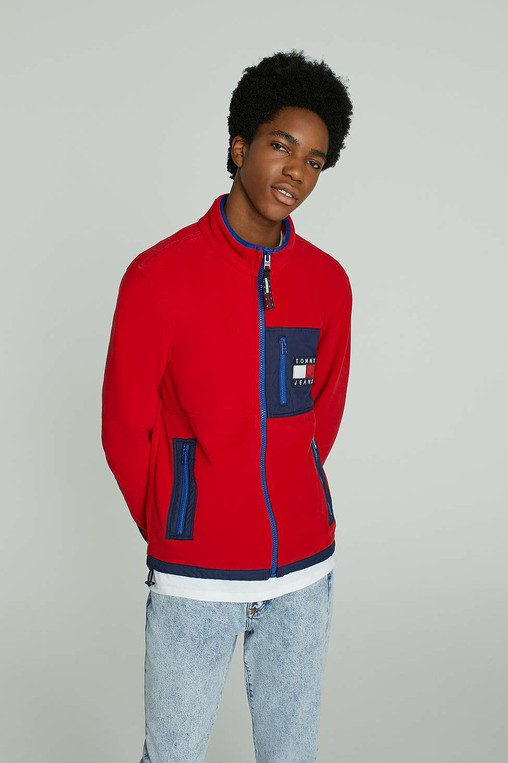 23c42737 90s Red Salsa Fleece Jacket by Tommy Jeans — Thread