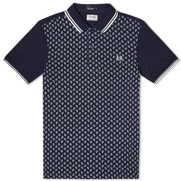906a84193 x Drake s Paisley Panel Polo by Fred Perry — Thread