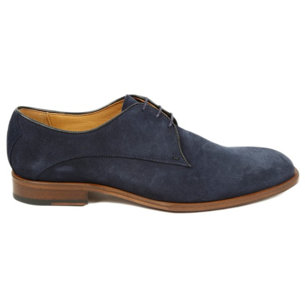 1a4c5a31ec151 Penselo Navy Suede Derby Shoes by Oliver ... — Thread
