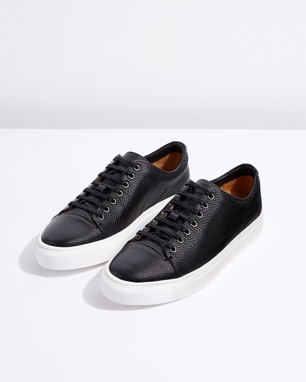 Campbell Grain Leather Trainers by