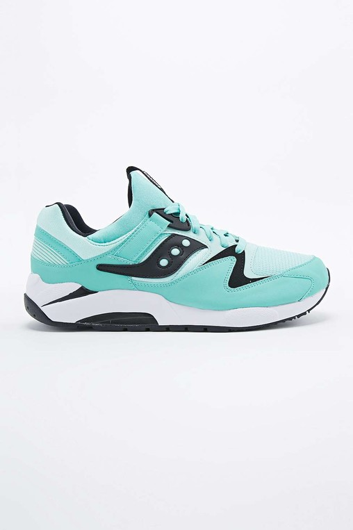 76868678 Grid 9000 Trainers in Green by Saucony — Thread