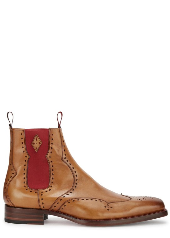 Novikov Dexter leather brogue boots by