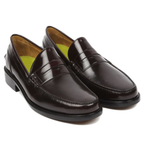6be3be6030b Leiston Burgundy Hi-shine Penny Loafer by... — Thread