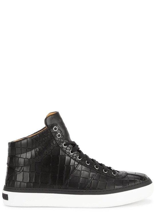 c5951a6ce8e33f Belgravi black crocodile-effect hi-top tr... — Thread