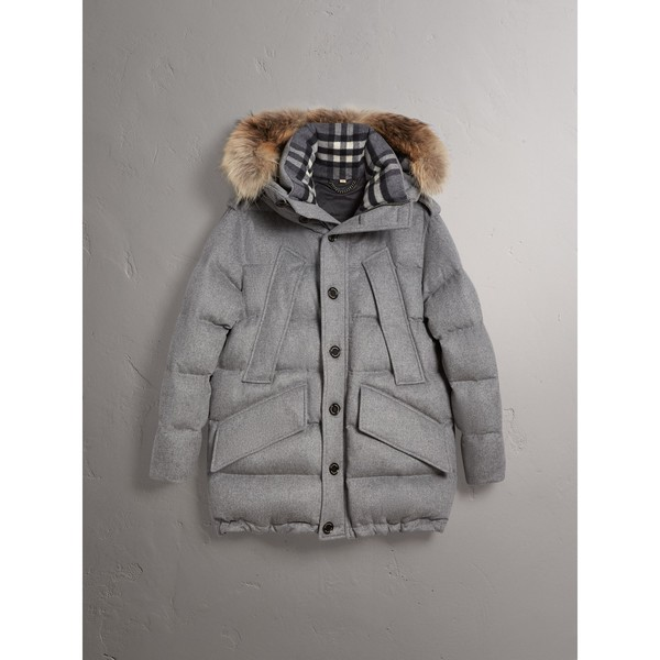 2deb390a4e8f Down-filled Cashmere Hooded Parka by Burb... — Thread