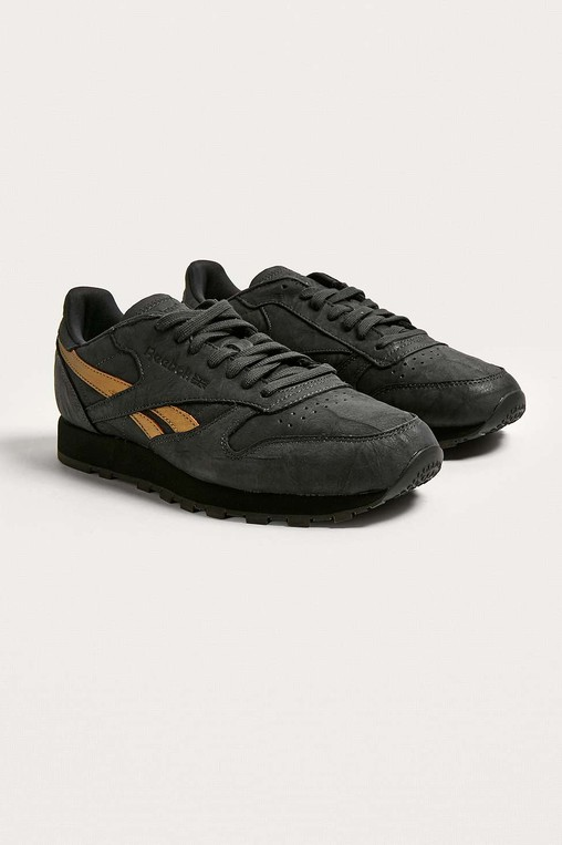 low cost 33f0a 9c324 Reebok Classic Leather TU Black Trainers by Reebok