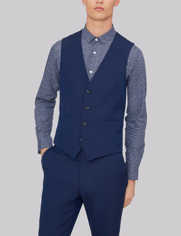 0772a6039ce Slim Fit Navy Waistcoat by French Connection — Thread