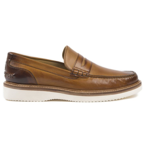 fe0f3abcf79 Hadleigh Tan Penny Loafer by Oliver Sweeney — Thread