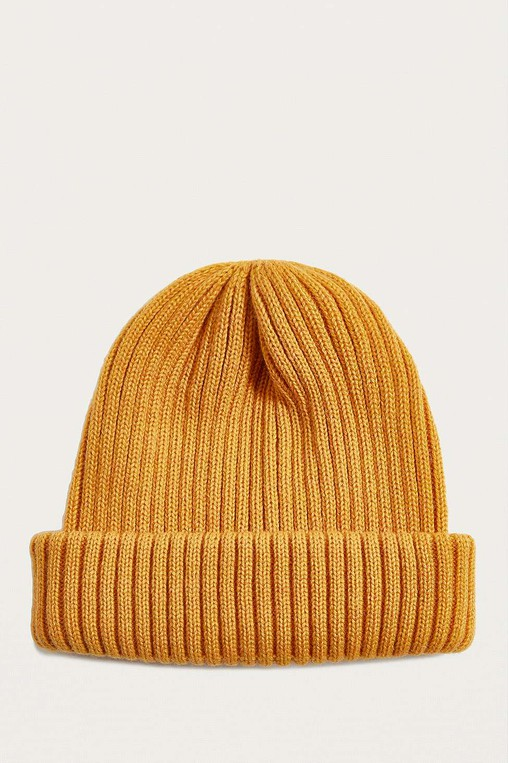 UO Mustard Ribbed Beanie by Urban Outfitters — Thread 0696888bf3f