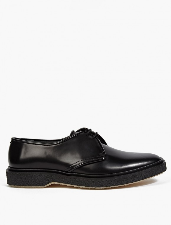 Black Leather Type 1 Shoes by ADIEU
