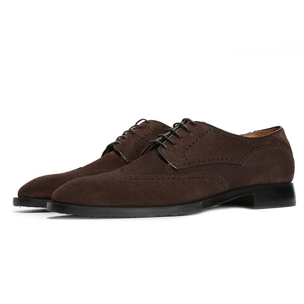 ec79d588d8 MESSINA CHOCOLATE - Suede Derby Brogue by... — Thread