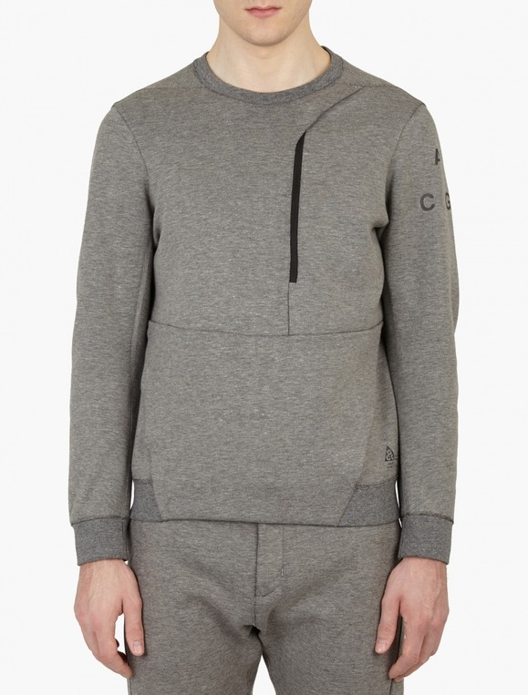 a392a8d9c2f0 Grey ACG Tech Fleece Crew-Neck Sweatshirt... — Thread