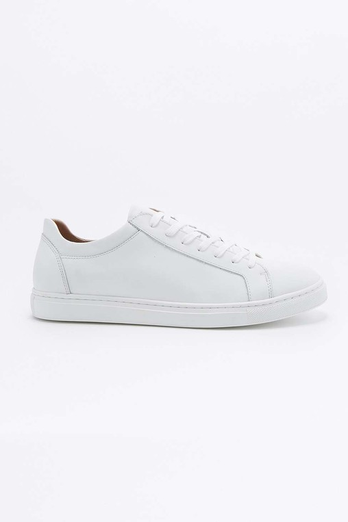 Dylan White Leather Trainers by